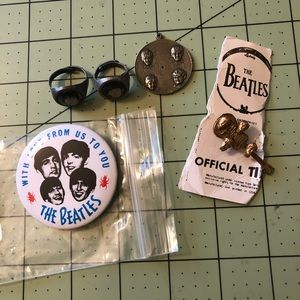 1964 vintage Beatles collectible rings & pins